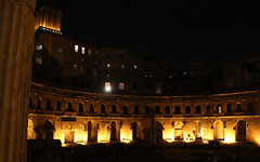 Mercati di Traiano (Toni Kaarttinen) Tags: city italien italy rome roma night dark ruins italia market roman nighttime di rom trajan italie lazio romo trajansmarket traiano trajans mercati italio