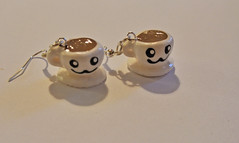 Cup-And-Saucer Earrings (JosieMM1013) Tags: cute forsale tea handmade crafts jewellery polymerclay kawaii teacups earrings etsy teacup seller quirky cupandsaucer polymer etsyshop cuteandquirkygirl