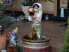 Salt on the Doorstep (Amongst Other Things) (mikecogh) Tags: urn dwarf salt makeup statues stained fantasy frontyard pitcher bizarre