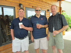 Jeff Arnold '78, Al Doering '82 and Gordy Leaf '81 (University of Minnesota, Morris Alumni Association) Tags: golf athletes cougar alumni umm outing cougars cougarfootball
