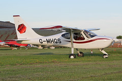 G-MHGS (QSY on-route) Tags: city manchester airport barton egcb gmhgs 19062013