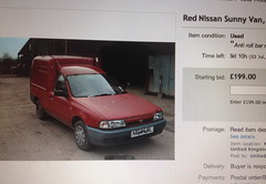 Nissan Sunny Van (Sam Tait) Tags: red ebay nissan 1996 sunny add van rare find 90s