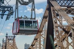 Roosevelt Island Tramway by Queens Boro Bridge (dzTraveler) Tags: nyc newyorkcity travel usa ny newyork manhattan tram eastriver queensborobridge rooseveltisland