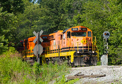 IMRR 60 Oakland City IN 14 July 2013 (Train Chaser) Tags: sd18 isrr indianasouthern imrr imrr60