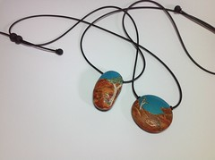 Gascogne (Wendy Jorre de St Jorre) Tags: cane necklace ring jewellery clay ear bead poly pendant polymer