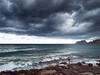 El pescador. (monsalo) Tags: mar agua mediterraneo nubes tormenta pescador moraira ifach monsalo