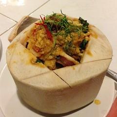 ห่อหมกทะเลมะพร้าวอ่อน | Steamed Seafood With Curry Paste In Young Coconut @ จันทร์เจ้าขา ณ เชียงใหม่ | Chan Chao Ka Na Chiang Mai