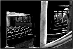 baignoires (philippe m. photography) Tags: blackandwhite bw black paris france blancoynegro film architecture analog teatro theater theatre analogue parigi philippemarchand