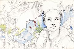 Postal (MiguelBethencourt) Tags: urban miguel viajes acuarela dibujo aire libre postales sketchers bocetos bethencourt illutracin
