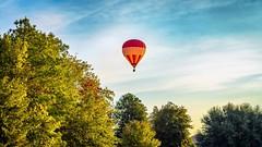 Sunrise Balloon (Sky Noir) Tags: hot air balloon hotairballoon intheair upupandaway