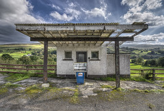 Simpler Times (Gareth Wray - 13 Million Views, Thank You) Tags: door old blue ireland windows sunset summer vacation sky irish sun house holiday building abandoned overgrown grass station set architecture clouds landscape photography countryside nikon europe closed photographer village natural diesel decay unique garage traditional horizon country ruin gas haunted spooky pump fox wierd oil times hd petrol colourful nikkor canopy northern gareth hdr fuel filling tyrone spookey lonesome simpler wray sperrin strabane gortin sperrins tonemapped 1024mm d1200 cranagh hdfox inspiringcreativeminds