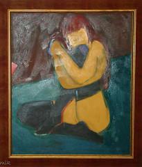 Painting by Vitaliy Gribkov (Tiigra) Tags: city travel portrait art museum painting russia moscow 2006 gribkov mrinasside