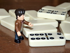 Dr Who Playing Dominos