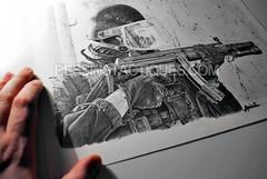 DessinsTactiques - Dessin Original Commando-Marine GCMC / HK MP5 SD6 (Part I) (DessinsTactiques.com) Tags: art artwork gun navy dessin sas cos swat commando 9mm chasuble ctm sek navyseals dessiner graphisme cagoule counterterrorism marinenationale 9x19 gcmc frenchnavy graphitepencils crayonné commandomarine forcesspéciales casquelourd jaubert pistoletmitrailleur ctlo davidandro hkmp5sd6 hkarms tacticalartwork dessinmilitaire crayonsgris gantstactiques visièrebalistique dessinstactiquescom dessinstactiques dessinoriginal groupesdintervention dessinforcesspéciales crayonsgraphite wwwdessinstactiquescom