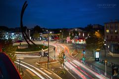 B2P@Night (Cedpics) Tags: street france night lights roundabout toulouse rue 31 nuit longshutter ville rondpoint hautegaronne poselente barrieredeparis