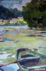 Romualdo Prati Barca nel lago di Caldonazzo di