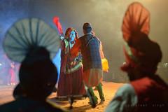 Folk Dancers (gurpreet_singh.) Tags: travel india heritage colors night nikon dancers shot folk stage indian performance culture craft artists punjab bhangra mela d4 utrakhand