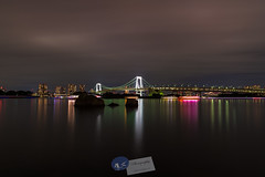 Tokyo Rainbow Bridge... (A.K_Photography Hamburg) Tags: ocean city longexposure bridge sea nature water japan night zeiss landscape lights tokyo rainbow waterfront nightshot citylights odaiba brücke minato tokyobay rainbowbridge tokio bucht langzeitbelichtung shibaura neutraldensity leefilters tokiobay zf2 nikond700 distagont2821 regebogenbrücke zeissdistagont2821zf2 ndproglass leeproglass odaibawaterfront präfekturtokio präfekturtokyo reinbôburijji shibaurakai