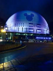Ericsson Globe Arena (mikper) Tags: globe sweden stockholm schweden arena projection mickeymouse sverige globen mussepigg ericssonglobearena