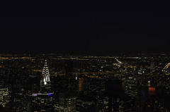 New York City (basair) Tags: usa newyork building night lights cityscape nightscape unitedstates manhattan aerial clear empire chrysler estadosunidos nuevayork