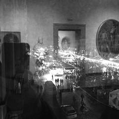 Riflessi(oni) 2 (matteosan81) Tags: blackandwhite italy panorama black rome roma buildings square shoot foto squareformat piazzanavona biancoenero monocrome archittettura iphoneography instagramapp uploaded:by=instagram
