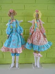 French tilda angels (Cuddly angel) Tags: pink blue dolls handmade angels tilda