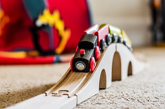Choo Choo!! (BGDL) Tags: train toys bedroom lewis odc niftyfifty trainsplanesandautomobiles nikond7000 woodenset nikkor50mm118g lightroom5bgdl