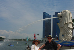 On the River-16 (thomarchie) Tags: singapore singaporemerlion merlionfountainsingapore