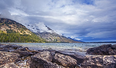 Jenny Lake (Joel in CB) Tags: lake nationalpark wyoming grandtetons canon5dmkii vision:sunset=0529 vision:mountain=0744 vision:outdoor=099 vision:car=0675 vision:sky=0979 vision:clouds=0967 vision:ocean=093