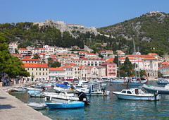 Hvar (christine zenino) Tags: ocean trip travel sunset sea summer vacation sky sun water canon boats photography photo seaside spring photos croatia nightlife ferries hvar vacatio travelphotography canon5dmark2 cheaptriptoeurope