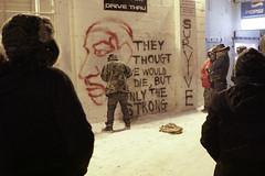 Mural in White KKKlay (confrontationalmedia) Tags: streetart southdakota nebraska alcohol activism pineridge whiteclay liquidgenocide shutdownwhitekkklay whitekkklay