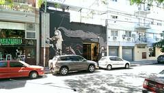 Royal Mural (microwavenby) Tags: argentina graffiti mural buenos aires victoria queen cyborg steampunk