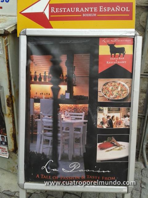 Restaurante español en Bodrum