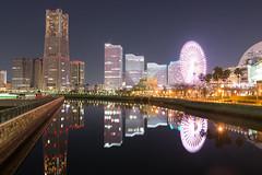 (GenJapan1986) Tags: reflection japan night landscape clear  kanagawa   25mm 2014      nikond600 zf2  distagont225
