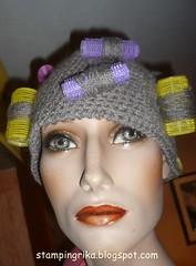 P1280123 (stamping_rika) Tags: lockenwickler krullers mütze haken häkeln karneval