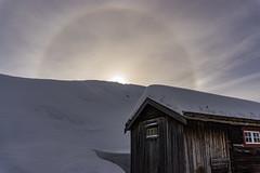 22° halo (krøllx) Tags: akamphotowalk europe halo house landscape midtnorge norway røros rørosmartnan season snow sun trøndelag winter wintermarket 20170225dsc08751201702251 22degreehalo rainbow sunhalo
