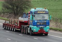 Allelys HH Mobile Crane support truck T900 AHH 14th March 2017 M62 (1) (asdofdsa) Tags: mobilecrane crane liebherr allelys hgv