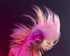 Ziggy Stardust makeup (chrisprice999) Tags: canon canon7dmk2 model girl woman blonde ziggystardust bowie