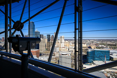 Downtown Dallas from Reunion Tower (Jemlnlx) Tags: canon eos 5d mark iv 4 5d4 5div ef 1635mm f4 l is usm wide angle zoom 16mm dallas texas tx tourism reunion tower view outside bars wires downtown gnd graduated neutral density filter