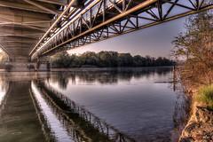 Aare Zufluss in den Rhein