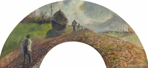 Champ labouré et ensemencé (C Pissarro)