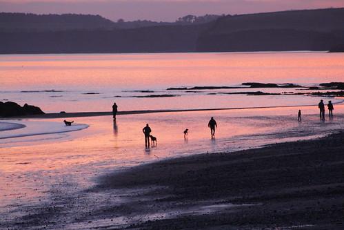 Beach Sunset - Sidmouth, Devon - Dec 2016