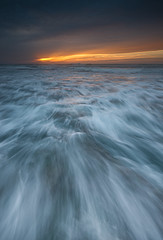 Stunning sunset (Alex Savenok) Tags: sunset sun water waves sea seascape seashore clouds palmachimbeach longexposure longexpo dramatic skydrama d610 1635 123sky