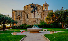 Today He Was Crucified (Paul Saad) Tags: jbeil church catholic maronite jesus lebanon byblos architecture design building crussifix art arch gate good friday crucifixion relihion night