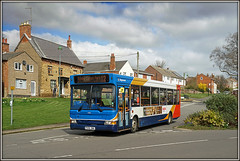 Diverted Dart (Jason 87030) Tags: dart diverted roadclosed barby roadhigh street 12 stagecoach rugby daventry northants northamptonshire village sony ilce 16000 driver nex tag oldbusstop thegreen wheatsheaf light clouds weather lucky 34816 px06dwa