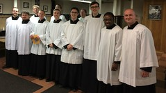 Seminarians from St. Mark Seminary were invited to join in the procession of the clergy at the Chrism Mass - April 10, 2017.