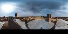 Abarqu's rooftops (Iran) (\Nicolas/) Tags: iran iranian town equirectangular 360 360° vr panorama abarqu caravansérail kārvānsarā toits rooftop