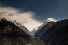 Nightshot of Machapuchare (Fattah.Dhrubo) Tags: abc annapurna annapurnabasecamp basecamp nepal nepal2017 trekking longexposure nightshot mountains himalayans machapuchare fishtail mountain range