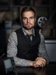 Portrait of Videographer Kert Paidre (Erlich Lõwi) Tags: dan winters flash shadows tv male model