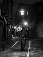 Bridge Street (johnholme1) Tags: marketbrew monochrome nightscene stockport blackandwhite